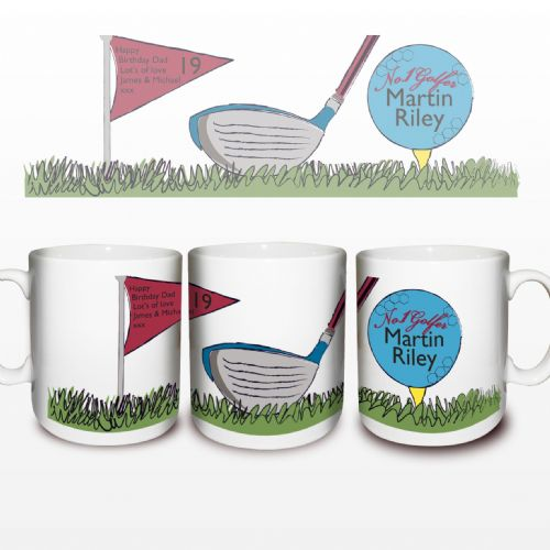 Personalised No1 Golfer Mug